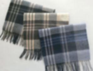 Classic Large Plaid Cashmere Scarves