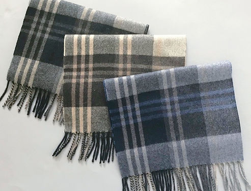 Classic Large Plaid Cashmere Scarves