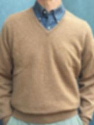 High Quality Men's Cashmere V-Neck Pullovers
