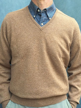High Quality Men's Cashmere V-Neck Pullovers
