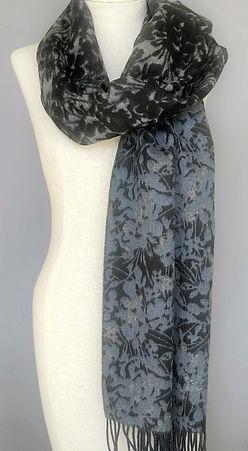 Cashmere/Merino Floral Shawl