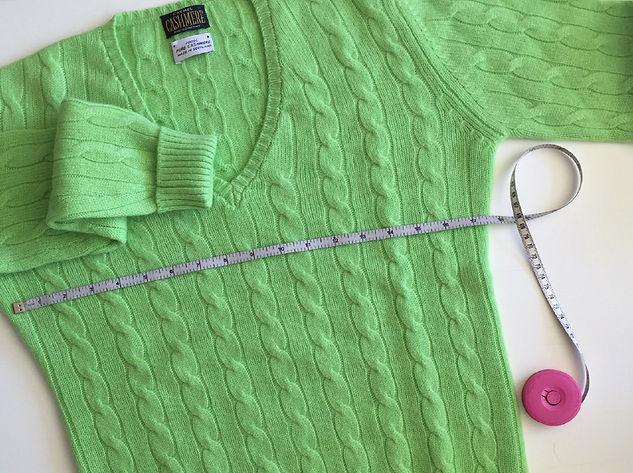 Cashmere sizes