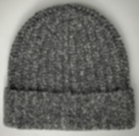 Cashmere Heavy Rib Knit Cap