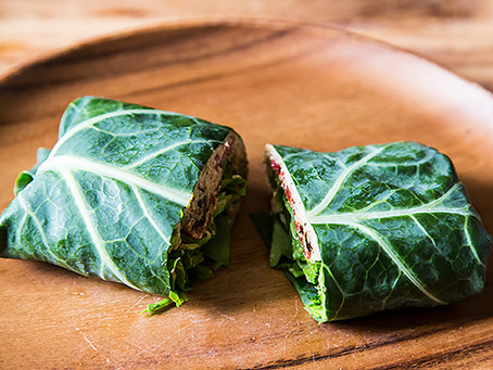 Collard Wraps with Thai Dipping Sauce