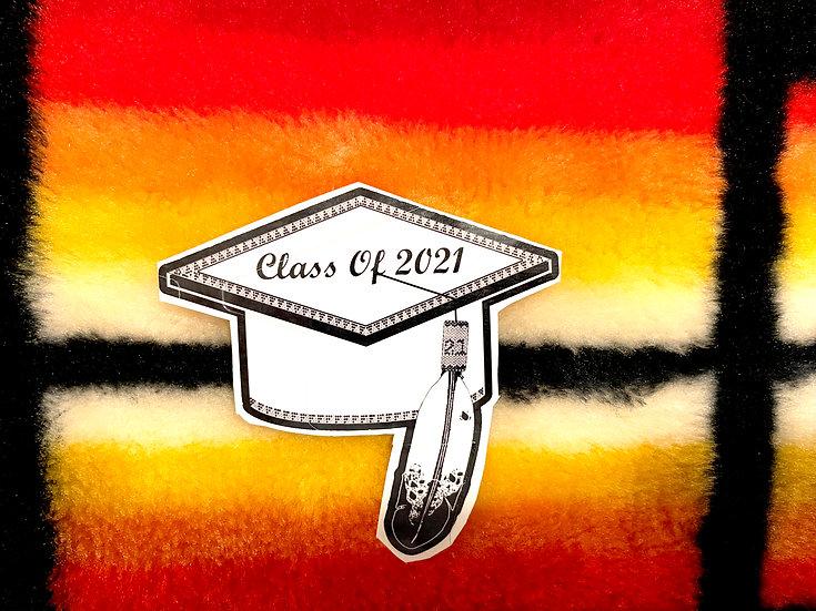 Graduation Cap sticker (4x3in)