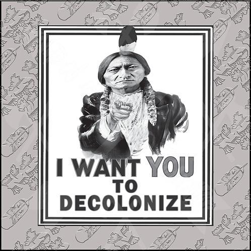 Decolonize Stickers (3x4in)