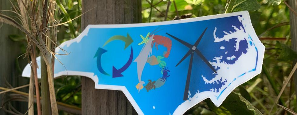 OBX Recycling sticker