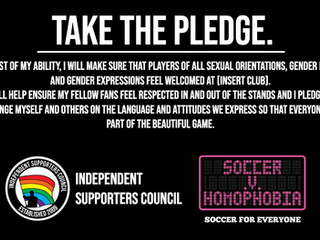 Soccer v Homophobia 2019 - Take the Pledge