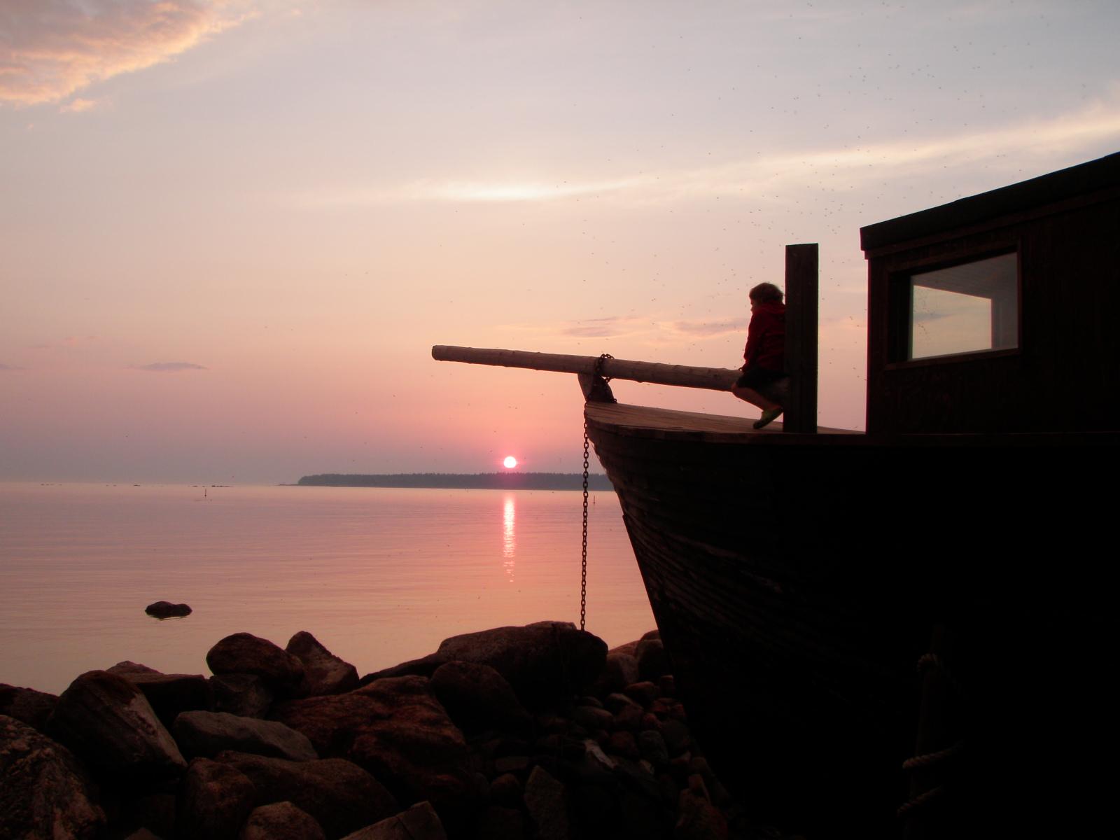 päikeseloojang Kaptenimajast