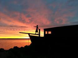 Kaptenimaja päikeseloojang