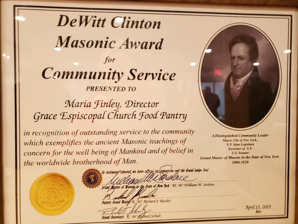 food pantry masonic award