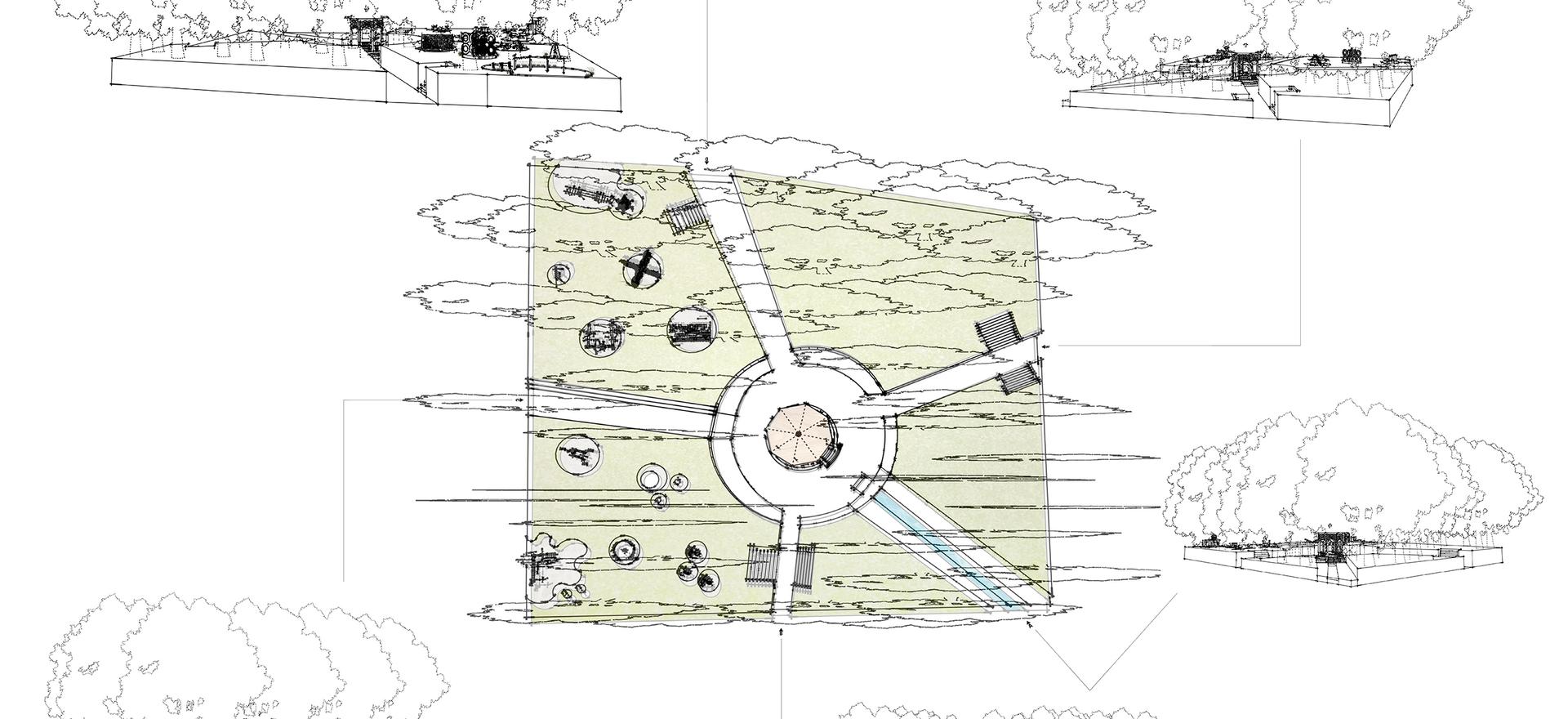 Ontwerp nieuwe indeling en functie van het Speelhuispark