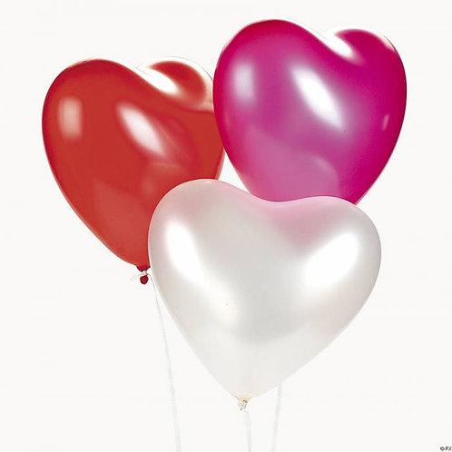 10 Adet Kalp Balon