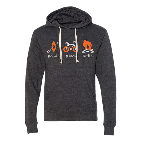 Wisconsin Paddle Pedal Settle Triblend Hoodie