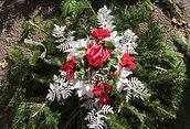 Grave blanket christmas cross hand made