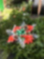 Grave blanket christmas cross hand made