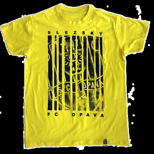 Tričko žluté s pruhy