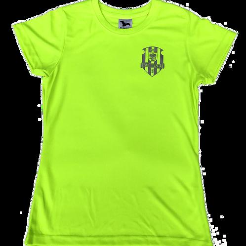 Dámské neonově žluté funkční tričko