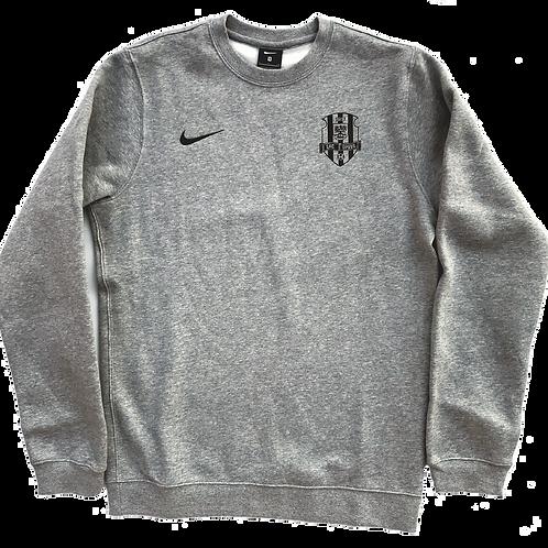 Mikina šedá Nike s černým logem SFC