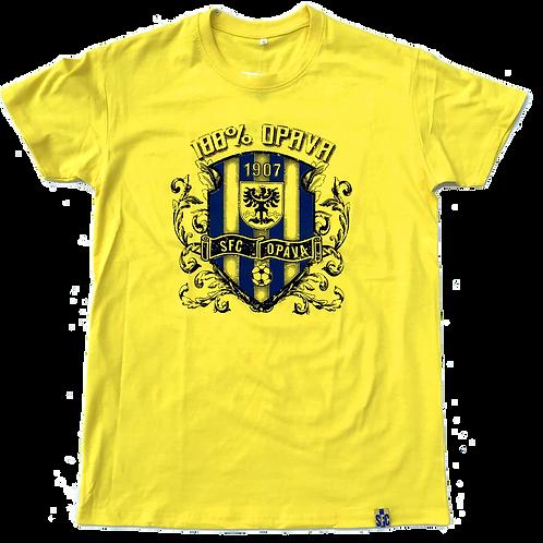 Pánské tričko žluté - 100% Opava