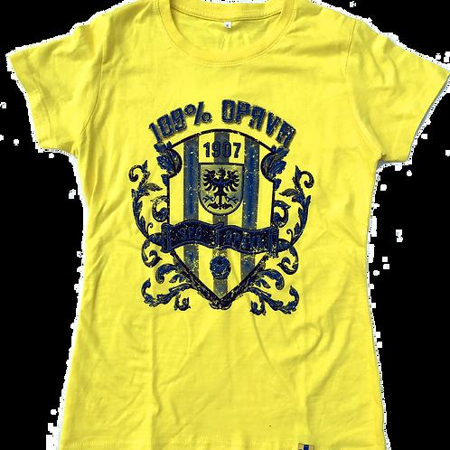 Dámské tričko žluté - 100% Opava