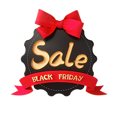 —Pngtree—black friday bow promotional la