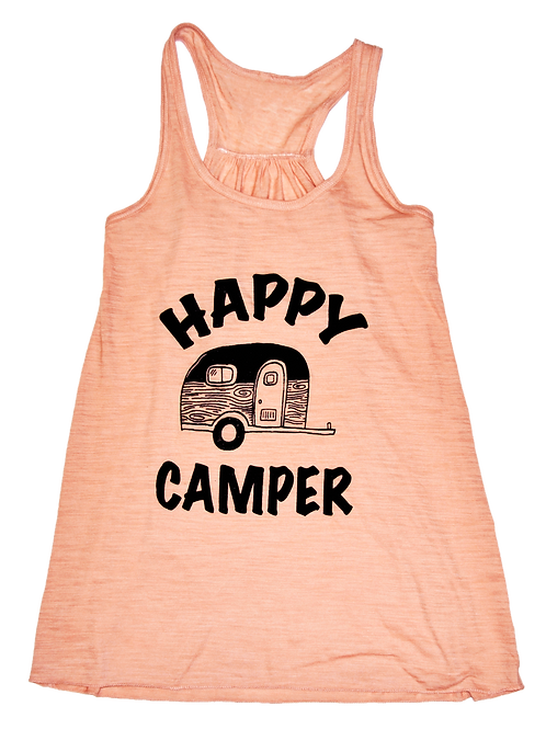 Peach Slub Black Happy Camper