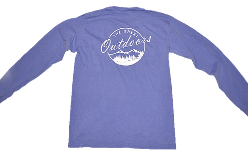 Flo Blue White Great Outdoors Pocket T