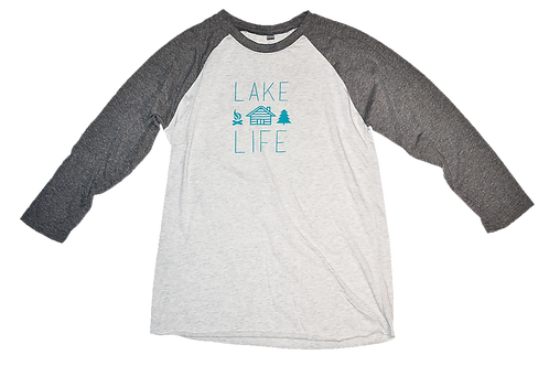 Grey Sleeves Teal Lake Life
