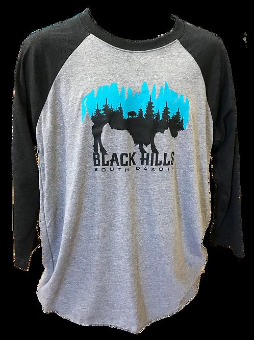 Black Sleeves Turquoise and Black Buffalo