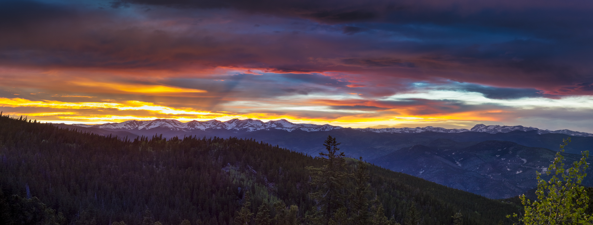 Continental Divide sunset Pano