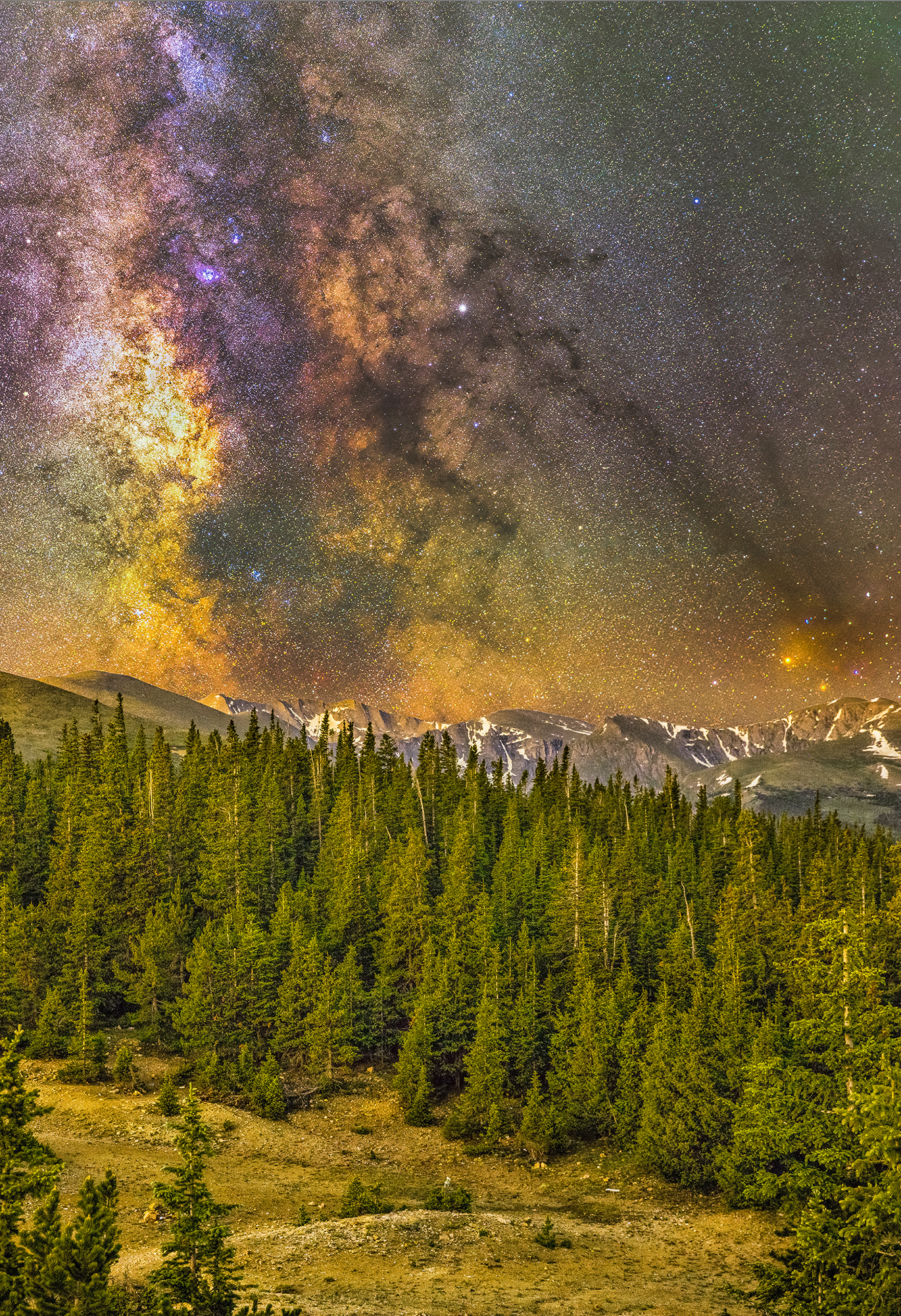 Milky Way over Mt Evans.