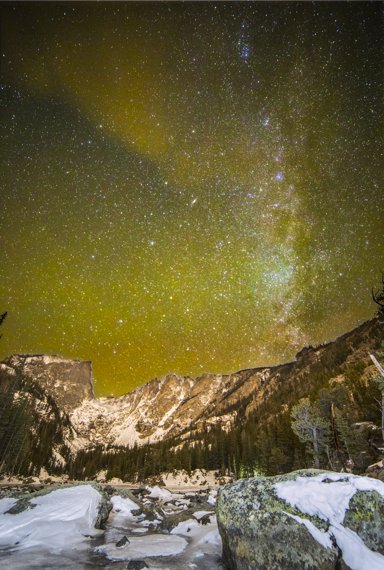 Dream Lake Milky Way