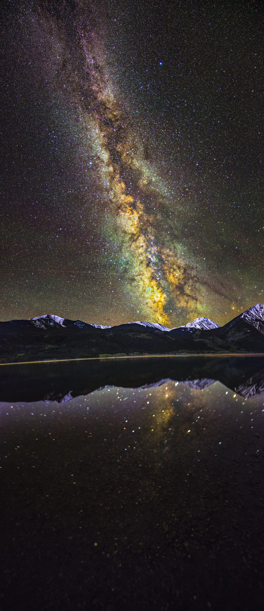 Twin Lakes Milky Way Vertorama