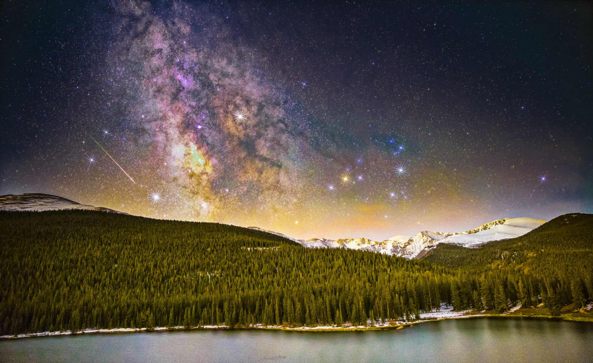 Milky way over Echo Lake