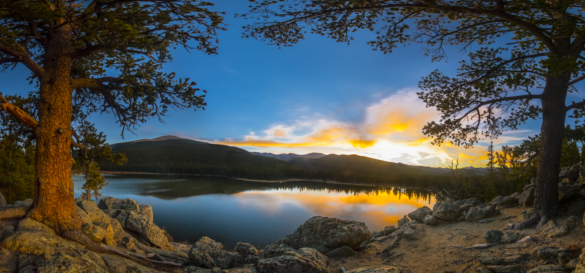 Echo Lake Sunset Panorama