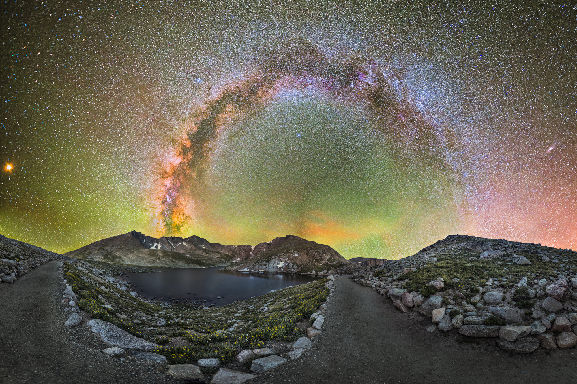 Mt Evand Milky Way Bow