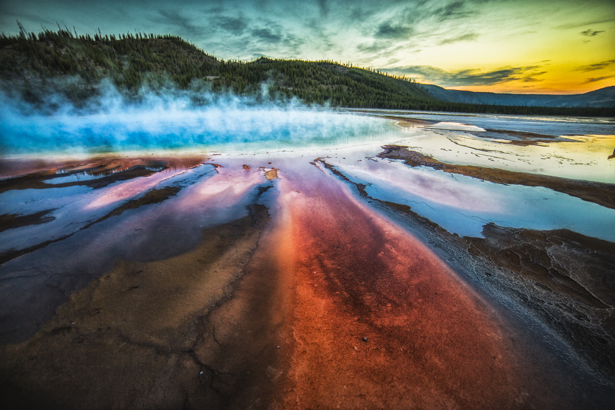Grand Prismatic Sunset
