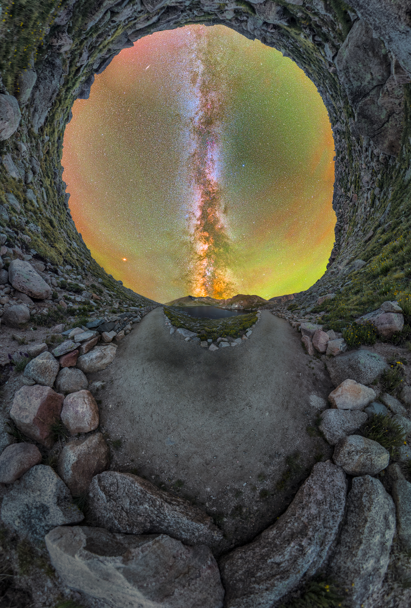 Mt. Evans Milky Way Fisheye 360 Pano