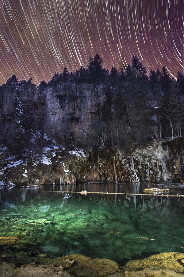 Hanging lake startrails