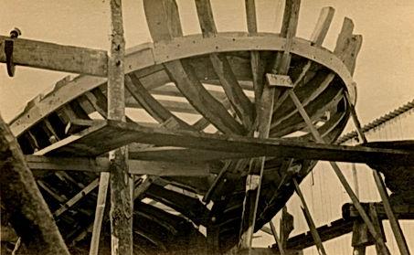 Bullo Shipyard - trabaccolo under construction - 1952 - Chioggia
