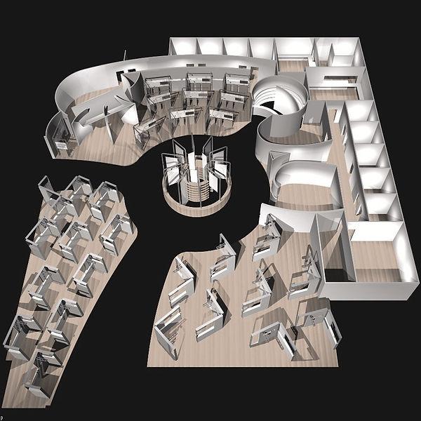 Bullo Design - EXHIBITION STAND Mostra Convegno Milano - Ceramica Dolomite and Ideal Standard- 2002
