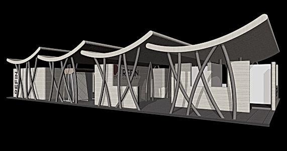 Bullo Design - EXHIBITION STAND CERSAIE - Refin Ceramiche - 2002