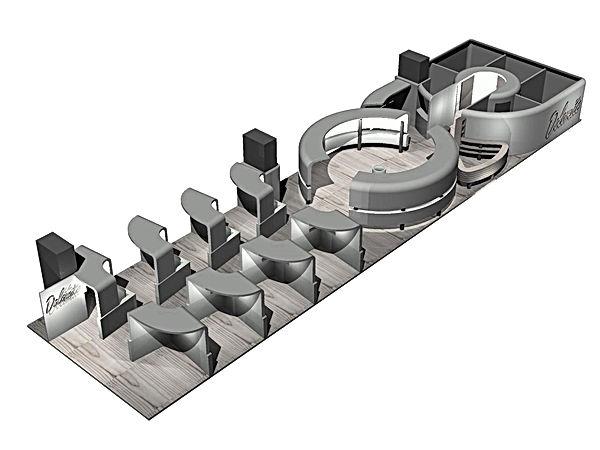 Bullo Design - STAND Mostra Convegno Milano - Ceramica Dolomite - 1996