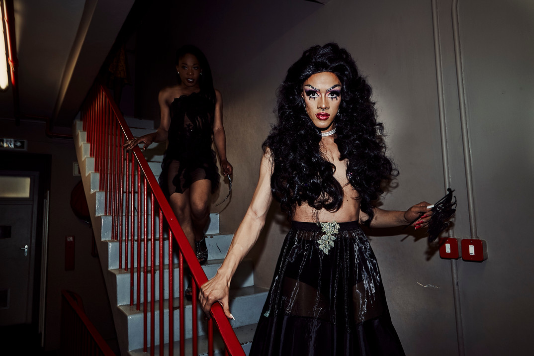 Ina Propriette at the Port Elizabeth Opera House where the Miss Drag South Africa Pageant was held in September 2018. Ina was one of two Cape Town drag artists who competed for the title and she was crowned first runner up during the crowning gala.