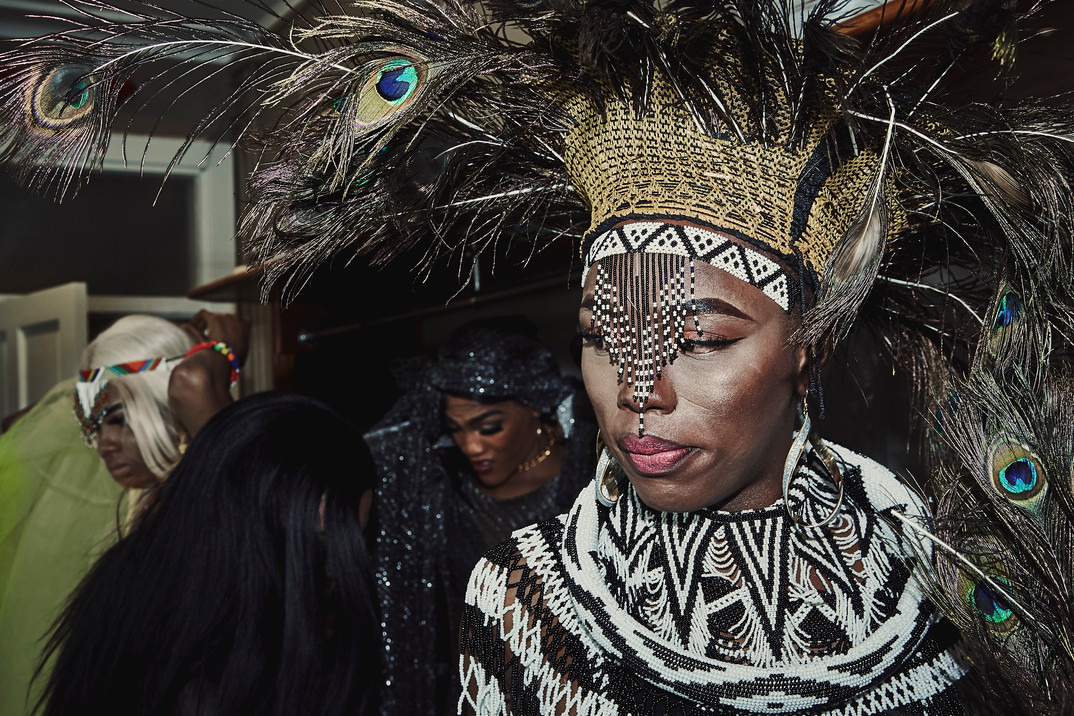 Noxolo Grootboom backstage at the Miss Drag South Africa pageant that was held in Port Elizabeth in September 2018.
