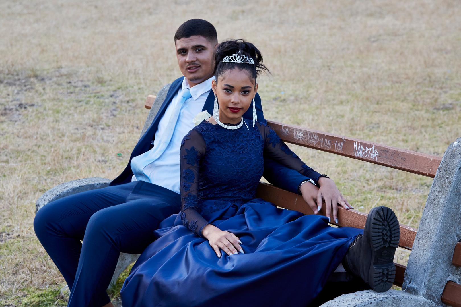 Bilaees Gamiet (17) from Salt River attended Salt River High's matric dance with her date Kivan Abbas. 29 Nov. 2019