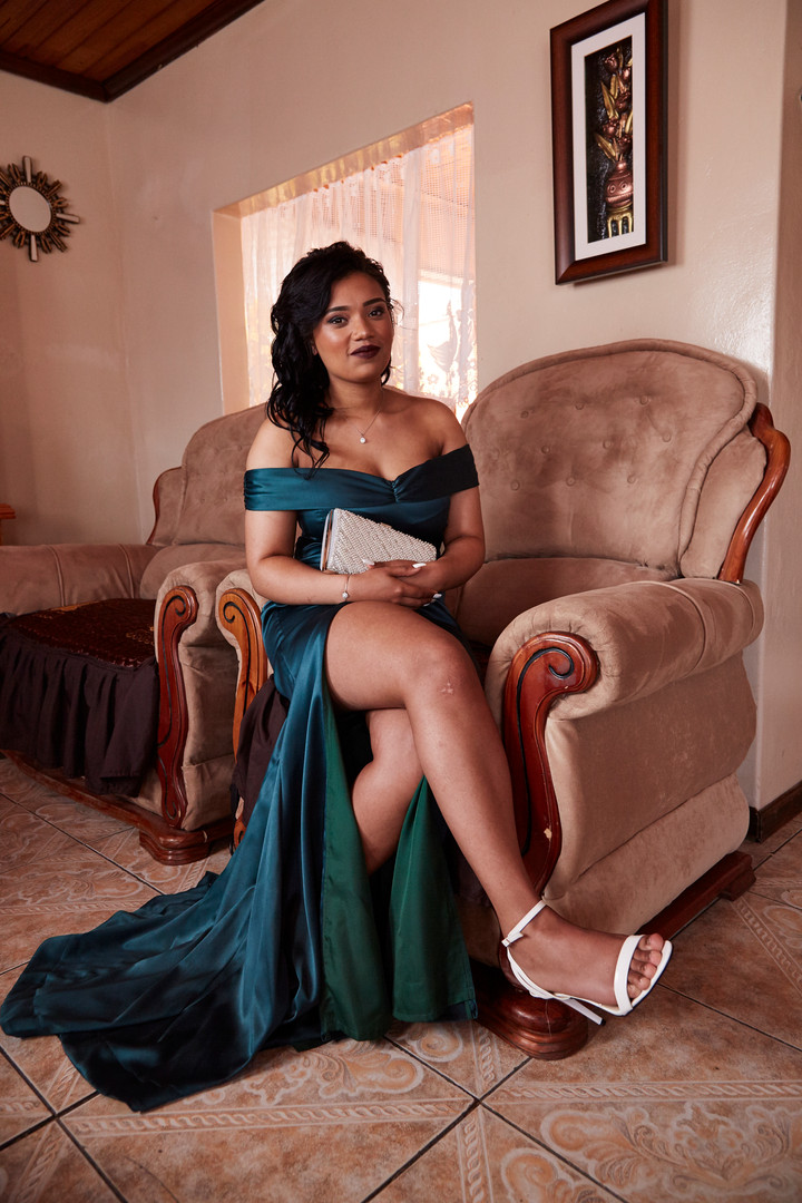 """Jaydene Lakay (18) from Cloetesville celebrated the day of her matric dance with her proud family. She is one of 3 siblings and the first in her family to graduate from high school.  """"In these times you can't blame your circumstances for where you end up in life. I want to rise up and prove that I can make something of my life."""" 17 Sep. 2019"""