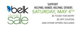 Belk Charity Day Sale Banner