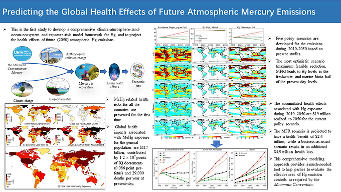 Global health effects of future atmospheric mercury emissions
